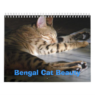 Belleza del gato de Bengala Calendario