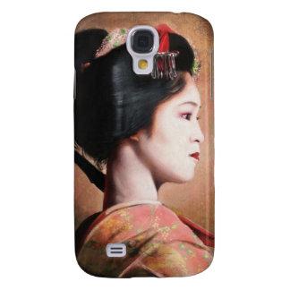 Belleza del geisha - pintura japonesa oriental fre samsung galaxy s4 cover