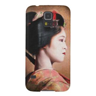 Belleza del geisha - pintura japonesa oriental funda para galaxy s5