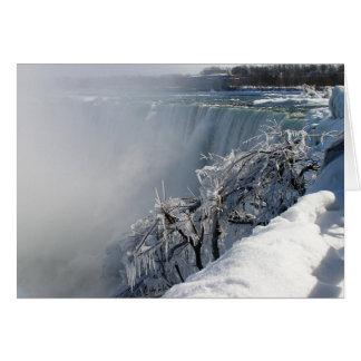 Belleza del invierno: Niagara Falls Tarjeta De Felicitación