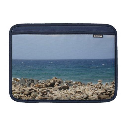 Belleza del océano fundas para macbook air