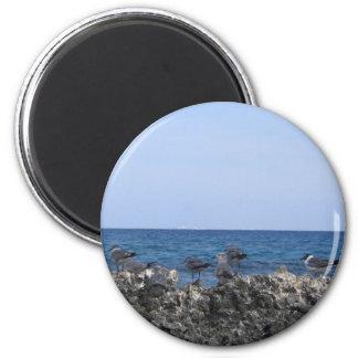 Belleza del océano imán redondo 5 cm