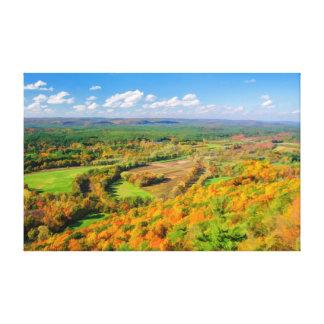 Belleza del otoño, Simsbury, CT Impresión En Lienzo