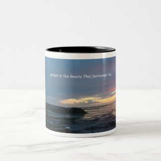 Belleza del placer taza de dos tonos