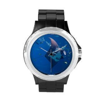Belleza del rayo de Manta Reloj
