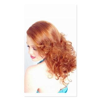 Belleza del Redhead Tarjetas De Visita