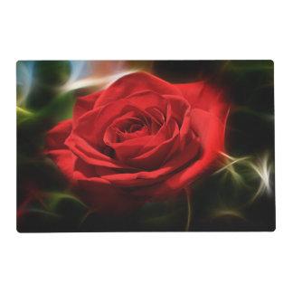 Belleza del rosa rojo salvamanteles