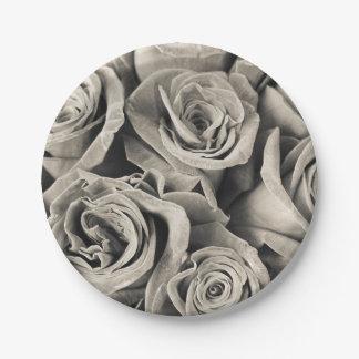 Belleza del terciopelo del vintage plato de papel de 7 pulgadas