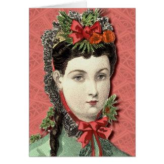 Belleza del Victorian - buenas fiestas tarjeta
