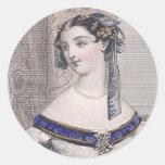 ¡Belleza del Victorian de Julio David - cara magní Pegatinas Redondas