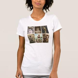 Belleza del vintage - camiseta polera