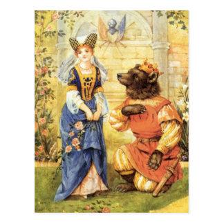 Belleza del vintage y el cuento de hadas de la bes tarjetas postales