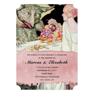 Belleza del vintage y la invitación del boda de la