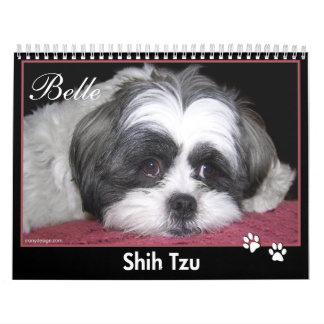 Belleza el calendario de Shih Tzu