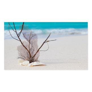 belleza el Caribe azul de la playa del playa-y-mar Tarjetas De Visita