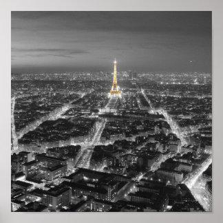 Belleza elegante de las noches de París Impresiones