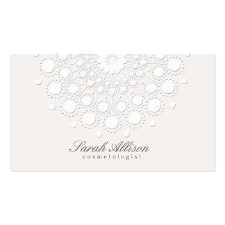 Belleza elegante y simple del blanco del tarjeta de visita