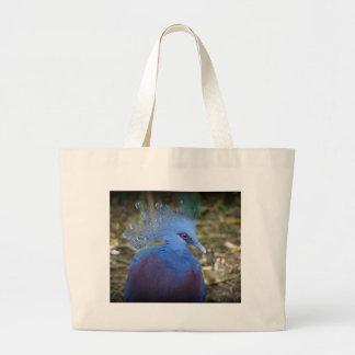 Belleza emplumada azul bolsa