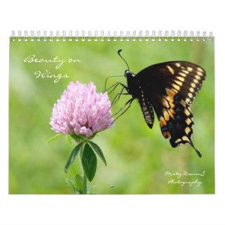 Belleza en calendario de las alas 2014