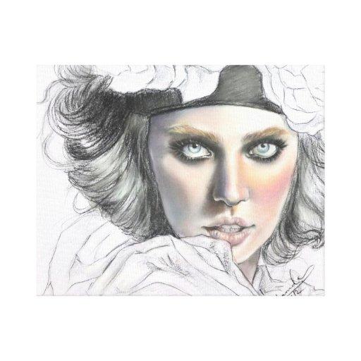 Belleza en colores pastel impresión en lienzo