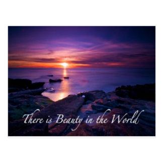 belleza en la puesta del sol del mundo postal