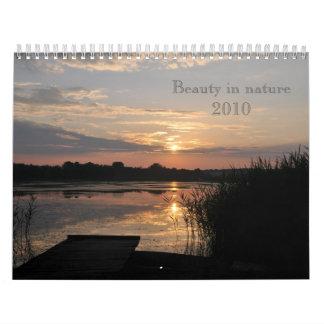 Belleza en paisajes de la naturaleza - calendario