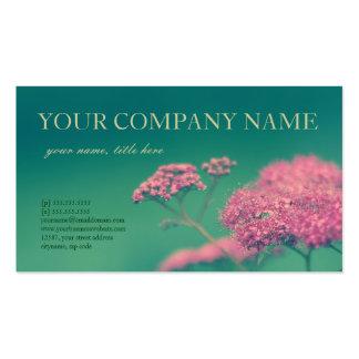 Belleza en rosa tarjetas de visita