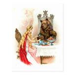 Belleza en rosa y la bestia tarjetas postales