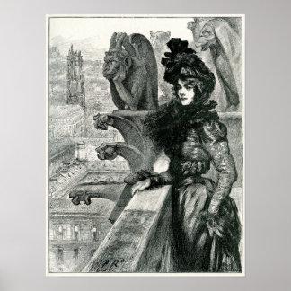 Belleza entre los diablos, Notre Dame, París Póster