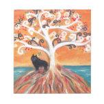 Belleza espiritual del árbol del amor del Schipper Bloc De Papel