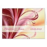 Belleza floral, casando la tarjeta de la invitació