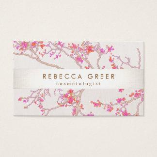 Belleza floral de las flores de cerezo rosadas tarjetas de visita