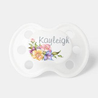 Belleza floral personalizada chupetes para bebés