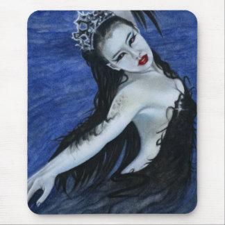 Belleza gótica Mousepad del cisne negro