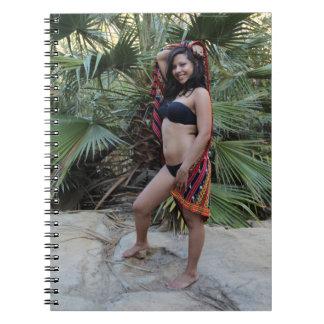 Belleza hispánica libro de apuntes con espiral