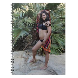 Belleza hispánica spiral notebook