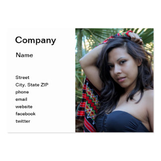 Belleza hispánica tarjeta de negocio