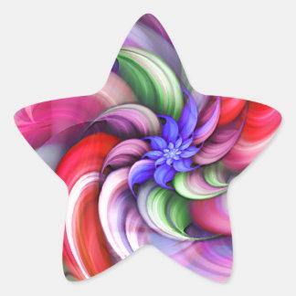 Belleza I_ Pegatina En Forma De Estrella