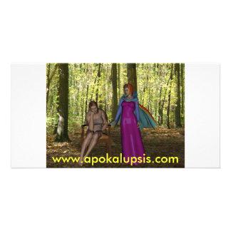Belleza - impresión fotográfica del encuentro del  plantilla para tarjeta de foto