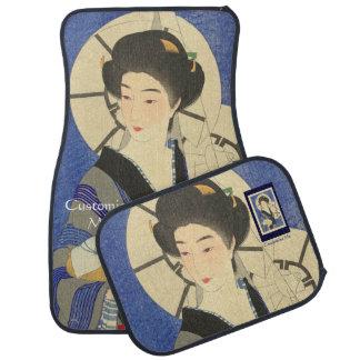 Belleza japonesa en el Bathouse Alfombrilla De Coche