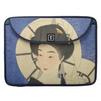 Belleza japonesa en el Bathouse Fundas Para Macbooks