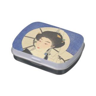 Belleza japonesa en el Bathouse Jarrones De Caramelos