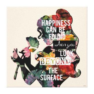Belleza - la felicidad puede ser encontrada impresión en lienzo