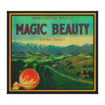 Belleza mágica LabelPorterville anaranjado, CA Impresión En Lona Estirada