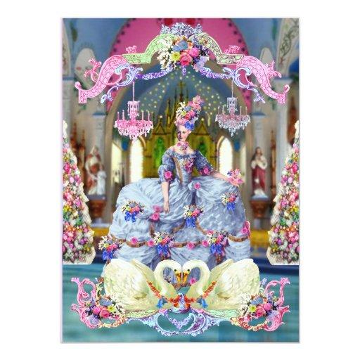 Belleza Marie Antonieta del La y Felices Navidad Comunicado Personalizado