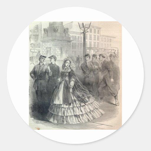 Belleza meridional, 1861 pegatina redonda