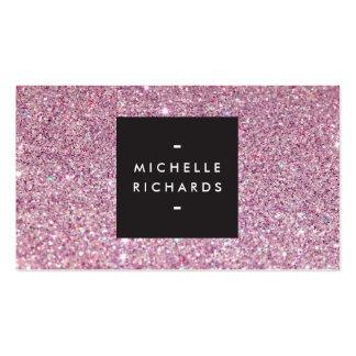 Belleza moderna del brillo rosado atractivo tarjetas de visita