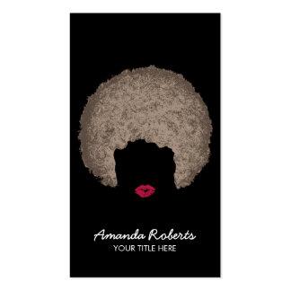 Belleza moderna y estilista del estilo del Afro Tarjetas De Visita