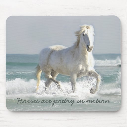 Belleza Mousepad del océano del caballo Tapetes De Ratones