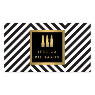 Belleza negra/blanca del logotipo del trío del tarjetas de visita